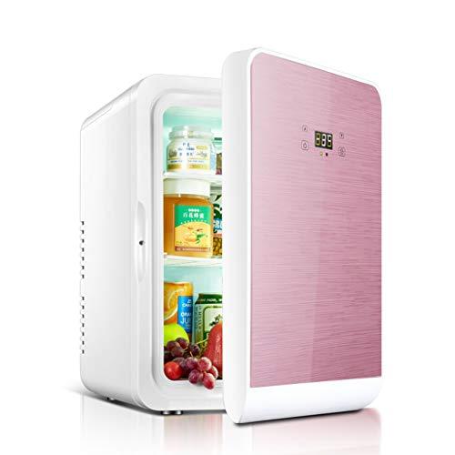 Mini-Kühlschränke Großgeräte 22L Auto Kühlschrank Mikro Kühlschrank Haushalt Kleiner Kühlschrank tragbaren Kühlschrank (Color : Pink, Size : 43.5 * 37 * 31cm)