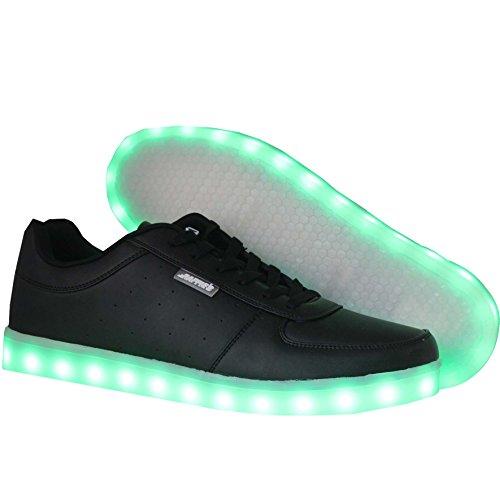 Raffies le scarpe da gara di crazy formato 38 hanno undici posizioni di luce diverse nella suola. sono ricaricabili tramite il cavo di ricarica usb incluso.