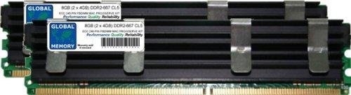 GLOBAL MEMORY 8GB (2x 4GB) DDR2667MHz PC2-5300240-PIN ECC Voll gepuffert (FBDIMM) Arbeitsspeicher RAM Kit für Mac Pro (Original/2006) -