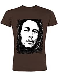 Pushertees - T-Shirt Mann Chocolat LTB-58 little bastard Sänger reggae berühmt alter 80 marijuana marley
