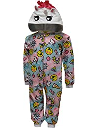 ebccfb081 Komar Kids Girls' Emoji Unicorn Hooded One Piece Pajama