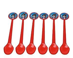 Atosa-Atosa-8452-cuchara Pirata 17cm plastico 6 Unidades, Color Rojo (8452)