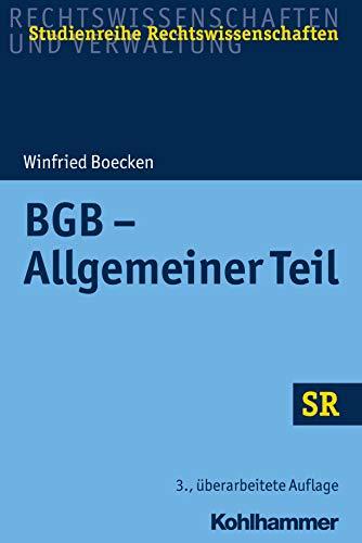 BGB - Allgemeiner Teil (SR-Studienreihe Rechtswissenschaften)