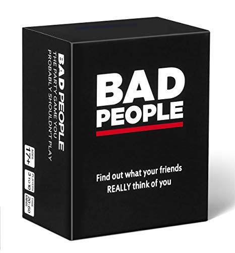 Bad People Juego de Cartas Que Probablemente no Debería Jugar, Beber o Verdad Dare, para Mates, Amigos, Parejas- Perfecto para Fiestas de hasta 10 Personas, Nsfw