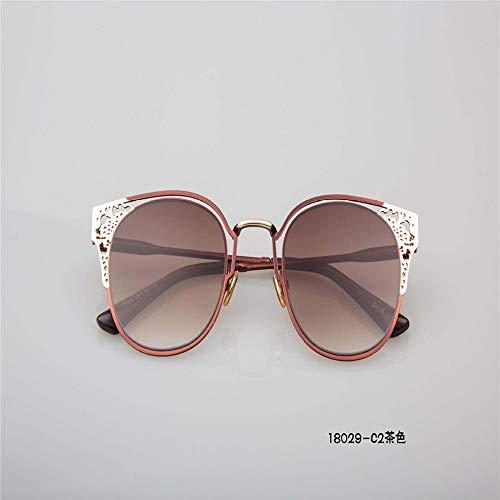 MJ Glasses Sonnenbrillen Metal Tide Brand Farbfilm Persönlichkeit europäischer und amerikanischer Stil, e