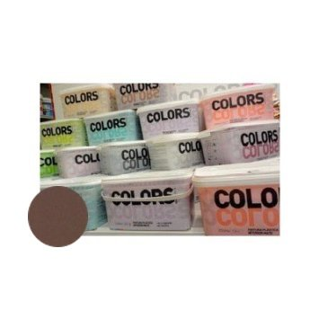 MATERIS - Pintura plástica interior mate colors marrón medio 2.5 l
