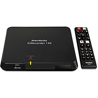 AVerMedia (ER130)  EzRecorder 130, HD Video Recorder, PVR, DVR, Schedule Recording, MP4 (H.264/AAC) Supported, Light and Portable, User-Friendly Set-up System - 1 USB Only Required