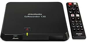 AVerMedia EzRecorder 130 - Registratore video digitale HDMI, Registrazione TV in tempo reale, Alta definizione 1080p, PVR, DVR, registrazioni programmate, H264/AAC, registra in formato MP4, portatile, facile da usare, non richiede PC (ER130)