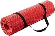 سجادة يوغا مقاس 8 مم مع حزام حمل، مصنوعة في الهند، باللون الأحمر من ARNV