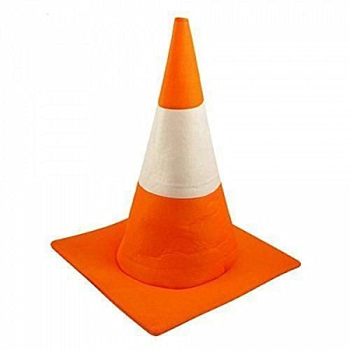 NEW FANCY DRESS UNISEX ADULT TRAFFIC ROAD CONE HAT ORANGE STAG NIGHT COSTUME ()