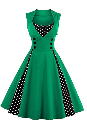 Babyonline Damen 40er 50er 60er Vintage Swing Rockabilly Pin Up Ballkleid Brautjungfer Brautkleid M,...