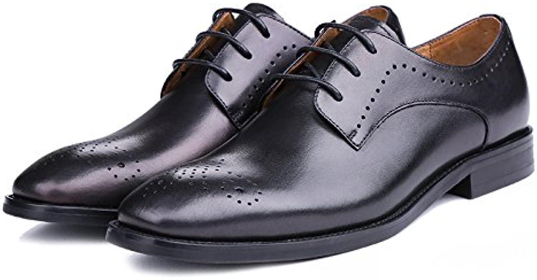 Verano Zapatos De Hombre De Negocios Hombres Vestido Cuero Zapatos con Cordones Zapatos De Cuero Casuales -