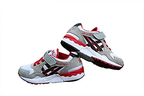 Ältere Kid Dämpfung Gel Lyte V Trail Road Racer Joggen Running Sneakers Competition Schuhe Schuhe Sportschuhe grau/weiß, Jungen, Grau/Weiß,