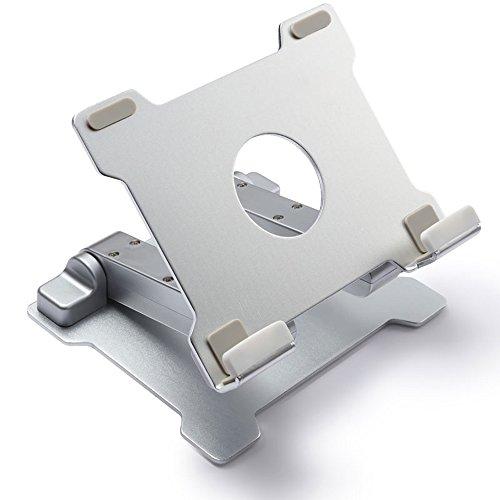 Folding table LVZAIXI Laptop-Ständer Apple-Computer-Stand-faltende Hals-Standplatz-Klammer-Computer-Schreibtisch-Stand-Aluminiumlegierung