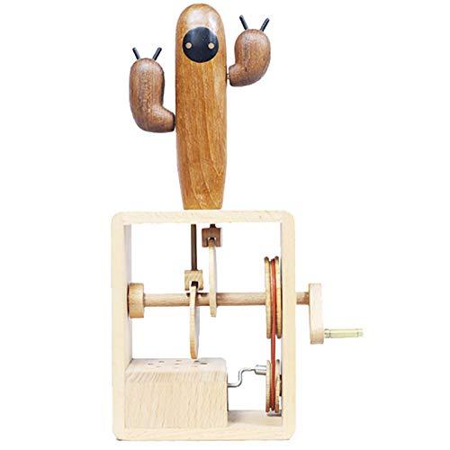 ZZA Kaktus Kreative Handgekröpfte Hölzerne Spieluhr Spieluhr Urlaub Geschenkbox