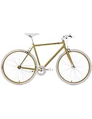 KS Cycling Fitnessbike Flip Flop RH 53 cm Fahrrad, Gold-Weiß, 28