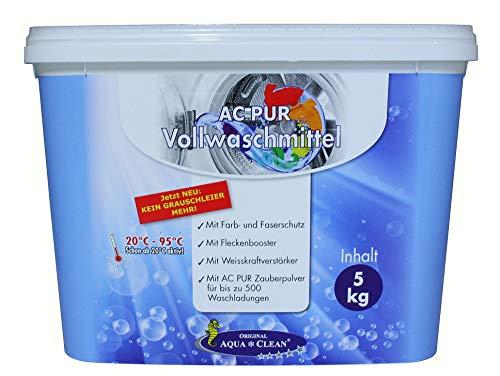 AQUA CLEAN PUR Vollwaschmittel neu mit Anti-Grauschleier & Flecken-Booster 5kg
