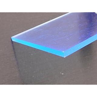 Acrylic C fluorescent blue Perspex sheet, 500 x 500 x 3 mm Plate cut fluorescent