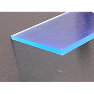 Platte Acrylglas GS, 500 x 500 x 3 mm, Fluoreszierend blau Zuschnitt alt-intech®