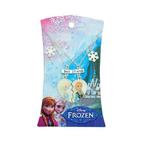 Icon froz5900Disney Frozen Broken Heart Geformte Snow Flake und Friends Anhänger Halskette (Snow Elsa Flake)