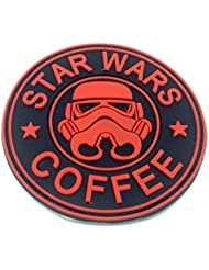 Star Wars Coffee Stormtrooper Rojo PVC Airsoft Velcro Patch