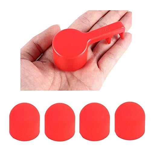 KingBra 1 x Kamera-Schutz Bubble Guard rot Objektivdeckel + 4 x roter Silikon-Motor-Schutzabdeckung, staubdicht, stoßfest, langlebiges Teil (2 Guard Vision Phantom)