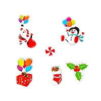 HEETEY Christmas Sticker Decorative Painting Living Room Wall Decoration Fridge stic Storage Removable Stickers Fashion Design DIY Wall Decoration