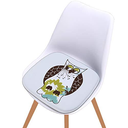 WYXR Premium-Soft Surface Ultra Komfort-Non-Slip Küche & Haushalt Gekrümmte Memory Foam Stuhlkissen, 8