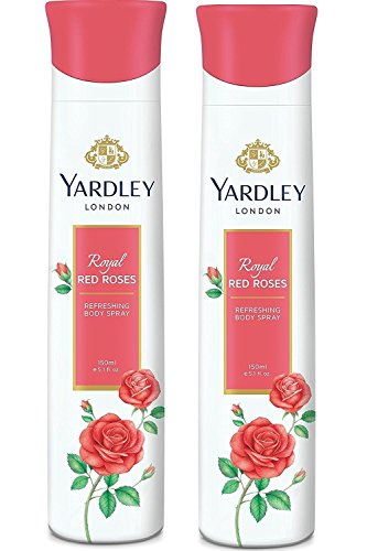 Nexxa Yardley London - Royal Roses Rouges rafraîchissant Deo pour Femme, 150 ML (Lot de 2)