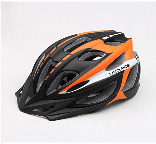 DKMMDWSSD Ultraleichter Fahrradhelm für Herren und Damen matt, Mountainbike-Reithelm, orange schwarz