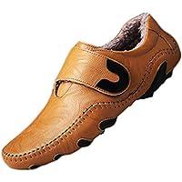 Zapatos Casuales Hombres Cuero Genuino Moda Invierno Pisos