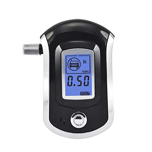 fghdfdhfdgjhh Ajuste AT-6000 alcoholímetro Detector de alcohol Pantalla LCD digital Batería Potencia Control manual BAC Tracker profesional con 5 boquillas