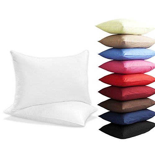 new-2-x-pillow-cases-housewife-plain-cover-poly-cotton-bedroom-luxury-pair-pack-white