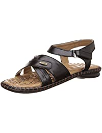 Tip Topp (from Liberty) Women's Black Fashion Sandals - 6 UK/India (39 EU)