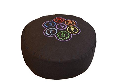 tvamm Lifestyle rond Coussin de méditation (Zafu) coton Noir