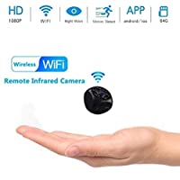 Mopoq Hidden Spy Camera, 1080p HD Infrared Night Vision Motion Detection Camera Camcorder Nanny Cam Home Security Mini Wireless Compact Camera (Color : 8G memory card)