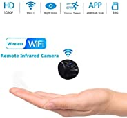 Mopoq Hidden Spy Camera, 1080p HD Infrared Night Vision Motion Detection Camera Camcorder Nanny Cam Home Secur