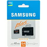 Samsung 64GB 48 MB/s Plus UHS-1 Class 10 MicroSD XC Memory Card with SD Adapter