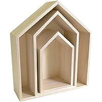Preisvergleich für Artemio Set 3Regalböden Maison à Dekorieren, Holz, Beige, 30x 10x 34,5cm