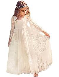 ce40b1ff5c079 Babyonlinedress Elégant Robe de Fille Enfant de Mariage d Honneur Soirée  Princesse Noble