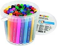 Morocolor PRIMO, Pennarelli Jumbo, 60 pennarelli punta grossa, pennarelli lavabili in secchiello, 12 colori br