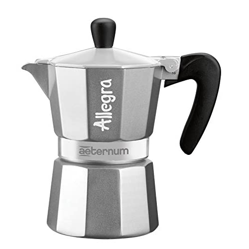 41XZhglHwYL. SS500  - Bialetti Allegra Coffee Maker, Silver, 3 Cup