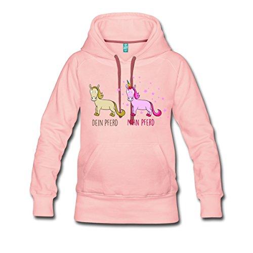 Mein-Pferd-Dein-Pferd-Vergleich-Frauen-Premium-Kapuzenpullover-von-Spreadshirt