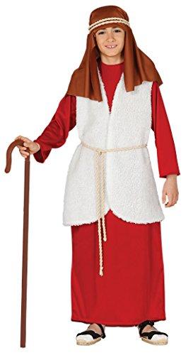 Guirma–costume bambini di ebraico Pastore, 7–9anni, colore: rosso, Guirca 42541.0)