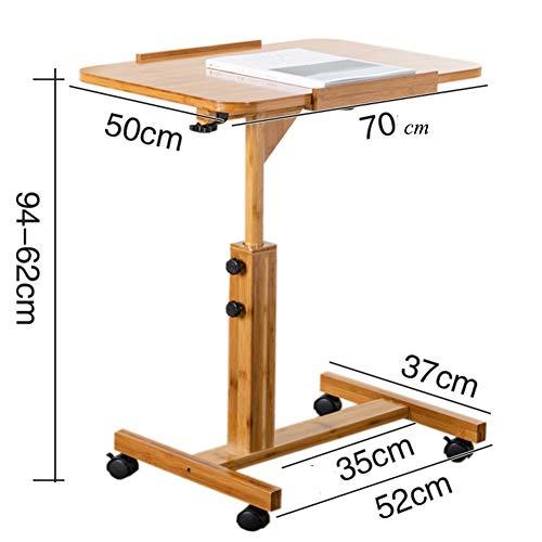 HYXL Hölzerne Beistelltisch Schreibtisch,faul Die Zimmer Sind Sehr Klein, Die Betten Sind Sehr Klein. Klapptisch Für Bett-Sofa Rolling Laptop Desk Klappen Kleiner Tisch-b -