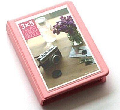 yiyo 32Taschen 12,7cm DIY Candy Colorful Fuji breit Instant Mini Buch Foto Album für Fujifilm Instax Wide 210Filme, 200Filme, 300Filme, Fujifilm FP100C, Fujifilm FP 3000b-pink