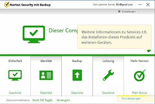 Norton Security mit Backup - 10 Geräte (PC, Mac, Android, iOS) (Product Key Card) - 6