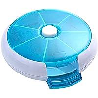 YaptheS 7 Tage Pill Box Case of Weekly Pill Organizer mit 7 Compartments Purse Runde Medizin-Organisator Blau,... preisvergleich bei billige-tabletten.eu