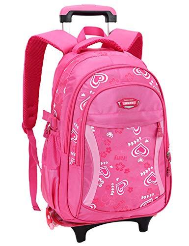 Zhhlaixing Trolley Rucksack Taschen für Schüler Mädchen - Umhängetaschen Gepäck Daypack Koffer Schulranzen mit Rollen Kinder Jugendliche Studenten