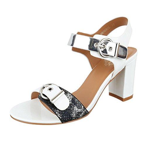 Ital-Design , Sandales pour femme Weiß